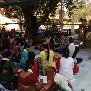 Talking at the Bodhi Tree