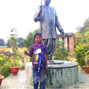 Dr Ambedkar and friend...
