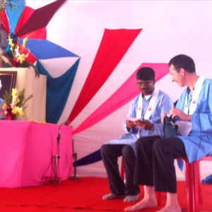 Paramabandhu with Kumarajiva