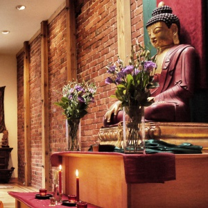 Main shrine rupa at San Francisco Buddhist Center