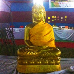 golden buddha (outside the tents)
