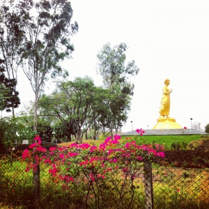 Another view of the Walking Buddha