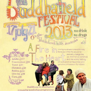 Buddhafield Festival Poster 2013