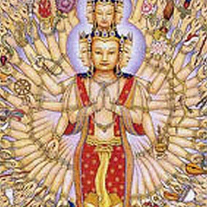 An image of the Thousand-Armed-Avalokitesvara from Mexico