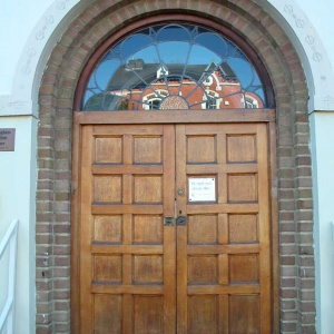 The new front door of the Birmingham Buddhist Centre