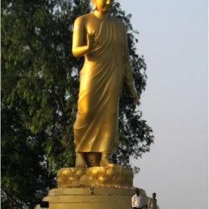 Nagaloka's 'Walking Buddha' statue