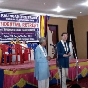 Lokamitra inaugurates the retreat in Bolangir