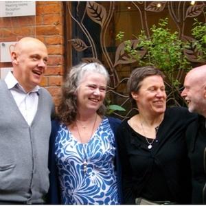 The Manchester Buddhist Centre team - Chandana, Dharmakasara, Suryaka, Vishangka (and Richard: on retreat!!)