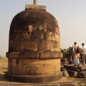 An ancient Buddhist stupa in Odisha