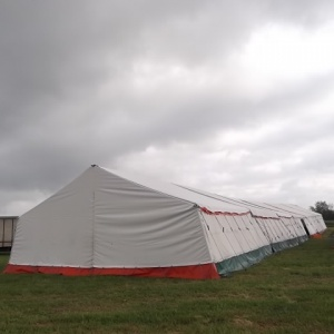 voila - the food tent for the International Retreat...
