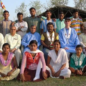 On retreat in Bodh Gaya,  March 2014
