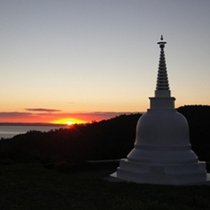 sunset by the Stupa
