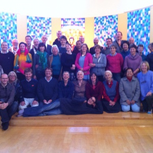 lovely retreatants pose for a group shot