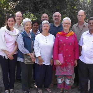 Tejadhamma with Pilgrims