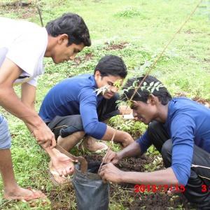 Plantation by participants while Shramdana