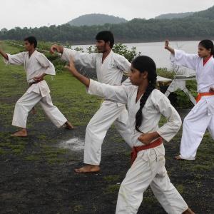 Karate Practice after Meditation session