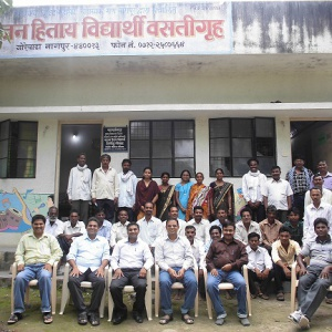 Group photo of parent and staff