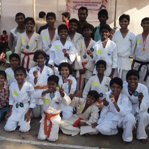 Winners of Karate Championship (PKD students)