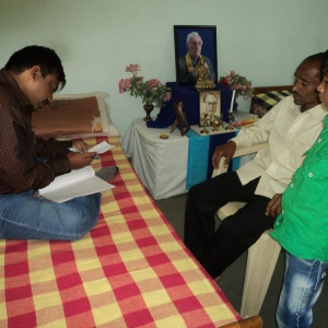 Milind with parent