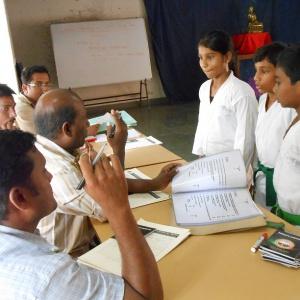 Sensei Rajan informing for next grade preparation who passed excellent!