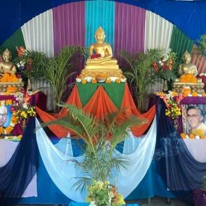 Shrine prepared for Mitra Day at Mahendranagar, Nagpur