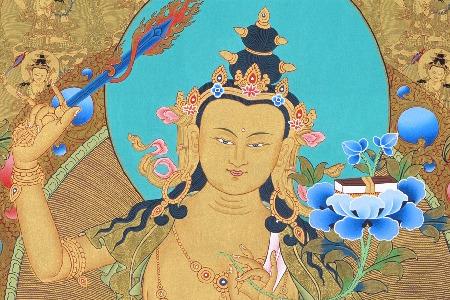 Painting of Bodhisattva of wisdom, Manjushri