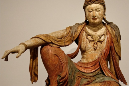 photo of Bodhisattva in royal ease posture