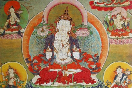 painting of Bodhisattva of wisdom, Manjusri