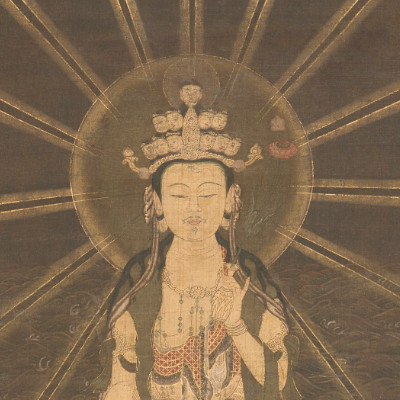 painting depicting Eleven-Headed Kannon