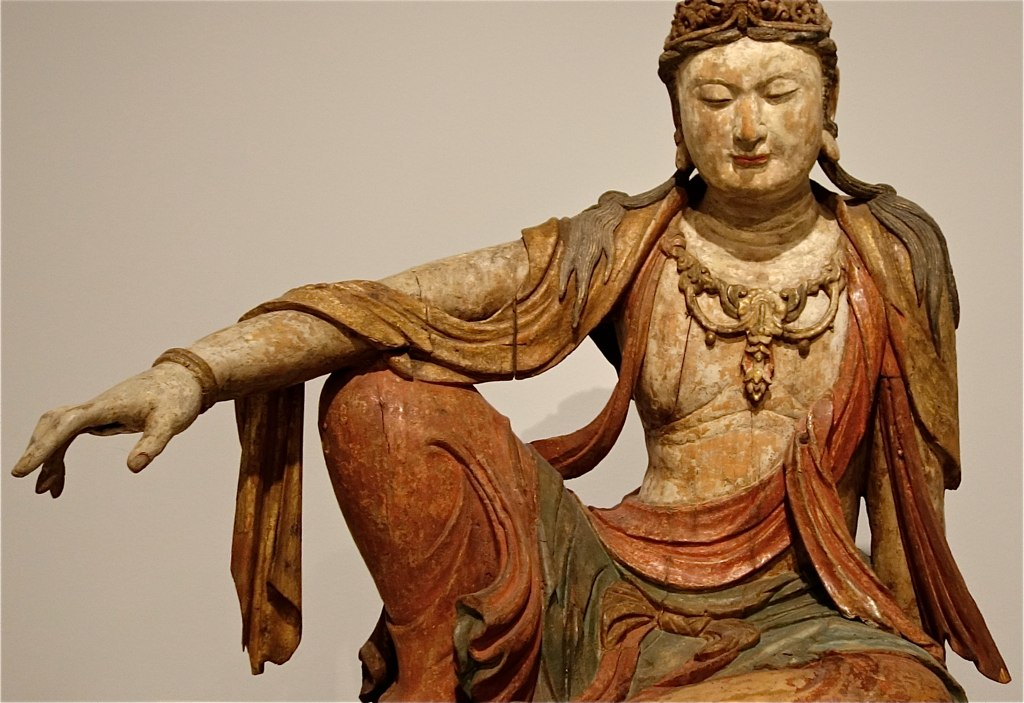 photo of a statue of Bodhisattva in 'royal ease' posture
